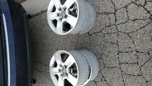 "16"" 2006 Audi A4 OEM alloy original rims Kitchener / Waterloo Kitchener Area image 2"