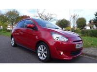 MITSUBISHI MIRAGE 3 - ZERO ROAD TAX 2013 Manual 12000 Petrol Red Petrol Manual