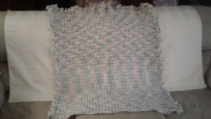 Broomstick lace baby blankets..