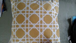 One Decorative Mustard Colored Pillow