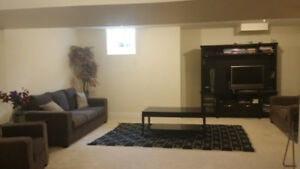Clean Fully furnished Basement Apartment in  Mississauga