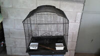 Bird cage and white stand for sale