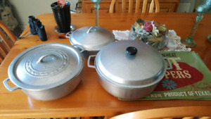 Heavy steel cooking pots