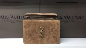 Brown YSL cross-body bag