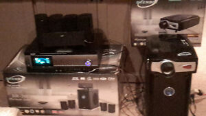 Full package home theater system with projector