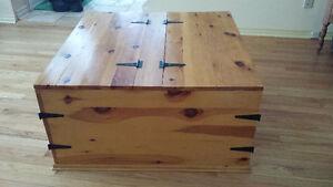 Rustic Pine Coffee Table /Storage Unit