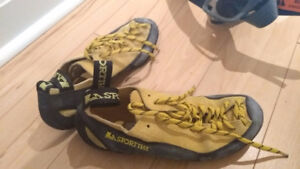 Like new: Climbing Shoes and Harness (men and women's/child)