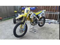 fuel injected 2013 rmz 450.23 hours on bike from full rebuild including titanium valves.