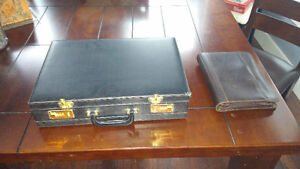 briefcase and day planner