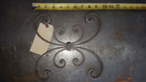 Iron gate and fence design elements