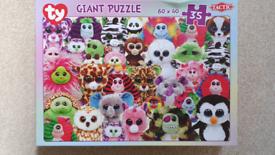 Ty Frizzys & Ty Beanie Boo Giant Jigsaw Puzzle Game XL 35 Pieces size