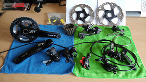 GROUPE COMPLET SHIMANO XT, COMME NEUF