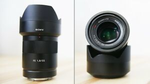 like new Sony Sonnar T* FE 55 1.8 ZA prime lens