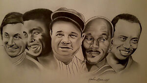 The Greats - Original Art - Hand drawn signed by artist London Ontario image 4
