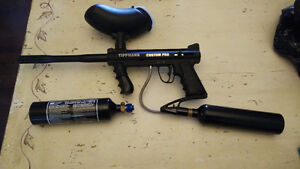 Tippmann Custom Pro Paintball Gun with 2 Co2 Tanks