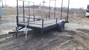 7 x 12 ft trailer Double ramp
