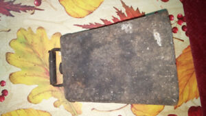 ANTIQUE  OLD COW-BELL HAS SQUARE NUT HOLDING THE CLAPPER 20.00