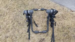 Sport bike rack for sedan cars- holds two bikes