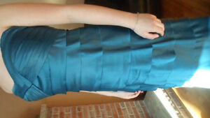 NEW - flr length teal strapless gown stretch satin Peterborough Peterborough Area image 3