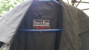 Outback oilskin full length coat for sale