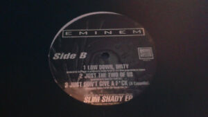 Eminem Slim Shady EP vinyl Just Dont Give A~ 12 inch single RARE