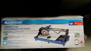"Brand new  7"" tile saw used once to cut ten tiles asking $260 London Ontario image 4"