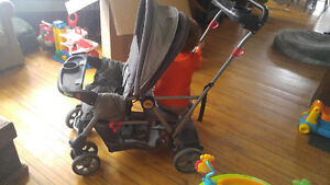 Double stroller sit and stand baby trend