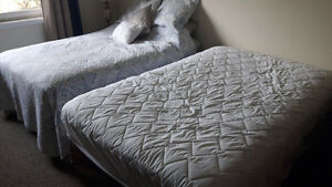 Two 3/4 Pillow Top Beds