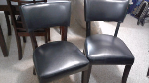 Leather Chair set.  Brand new.