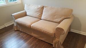 Divan lit Ektorp beige Ikea - 300$