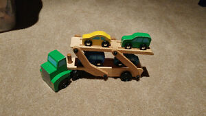 Melissa & Doug Wooden Truck and Cars