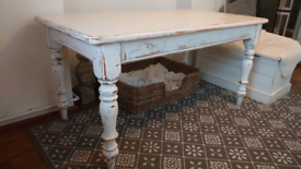 For Sale White Pine Wood Kitchen/Dining Table