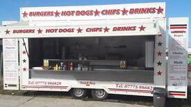 Catering trainer Burger trailer burger van