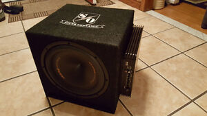 "12"" 500W Precision Power subwoofer and SSL 1200 watt Amp"
