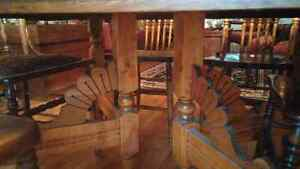 Solid Oak Antique Table and chairs Kingston Kingston Area image 2