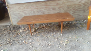 Mid Century Walnut not Teak Bench