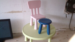 kids ikea table and 2 chairs