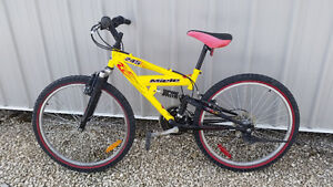 Miele 245 Youth Mountain Bike full suspension, 15 speed, $200.00