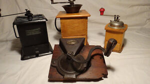 Antique Coffee Grinder collection 4 pieces West Island Greater Montréal image 2