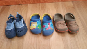 Lot of Boys Crocs Sandals/Water Shoes - size 10/11