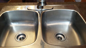 Stainless Steel Double Kitchen Sink with Tap