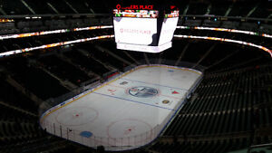 3 Oilers vs Predators tickets in private row and xtra wide seats