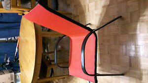 Red patio chair
