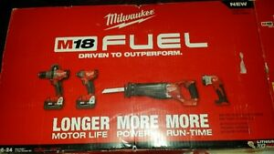 Milwaukee FUEL BRUSHLESS cordless tools (4 tools combo)