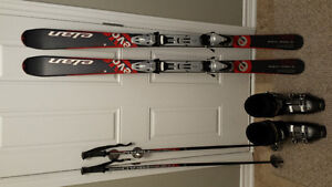 Ladies 160 Skis Boots and Poles