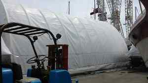 Canvas Covered, Quonset Style, Garage/Shelter
