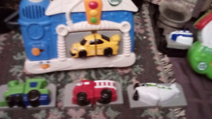Leap frog fridge magnets set of different vehicles