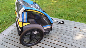 Two seat bicycle trailer/stroller