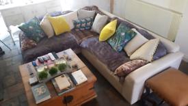 John Lewis 2017 very large corner L shaped oversized sofa unit.