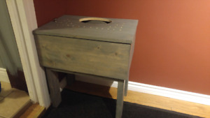 Selling hand made wooden litter boxs (plastic litter box inside)